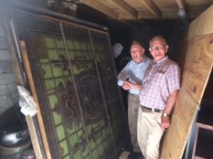 Tadhg and Paul with the Shakespeare Window
